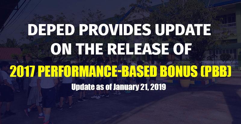 2017 Performance-Based Bonus (PBB) Update