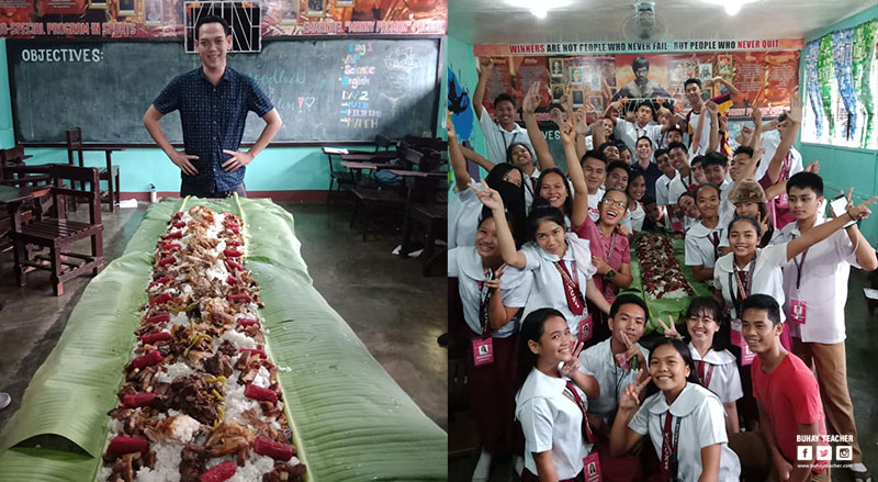 Teacher Treats His Students to Lechon