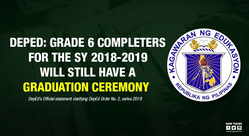 grade 6 completers graduation ceremony 2018-2019