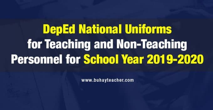 DepEd National Uniform 2019-2020