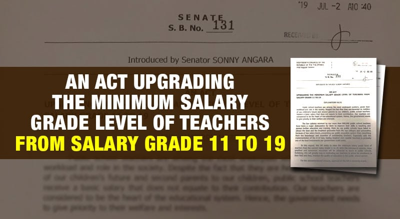Senate Bill 131 Salary Hike of Teachers